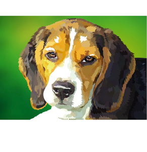 Beagle | Exclusieve Diamond Painting - Myth Of Asia