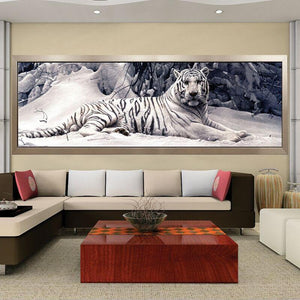 Witte Tijger XL | Diamond Painting - Myth Of Asia