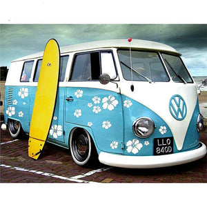 Oude VW Bus | Diamond Painting