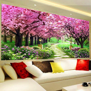 Roze Bomen XL | Diamond Painting - Myth Of Asia