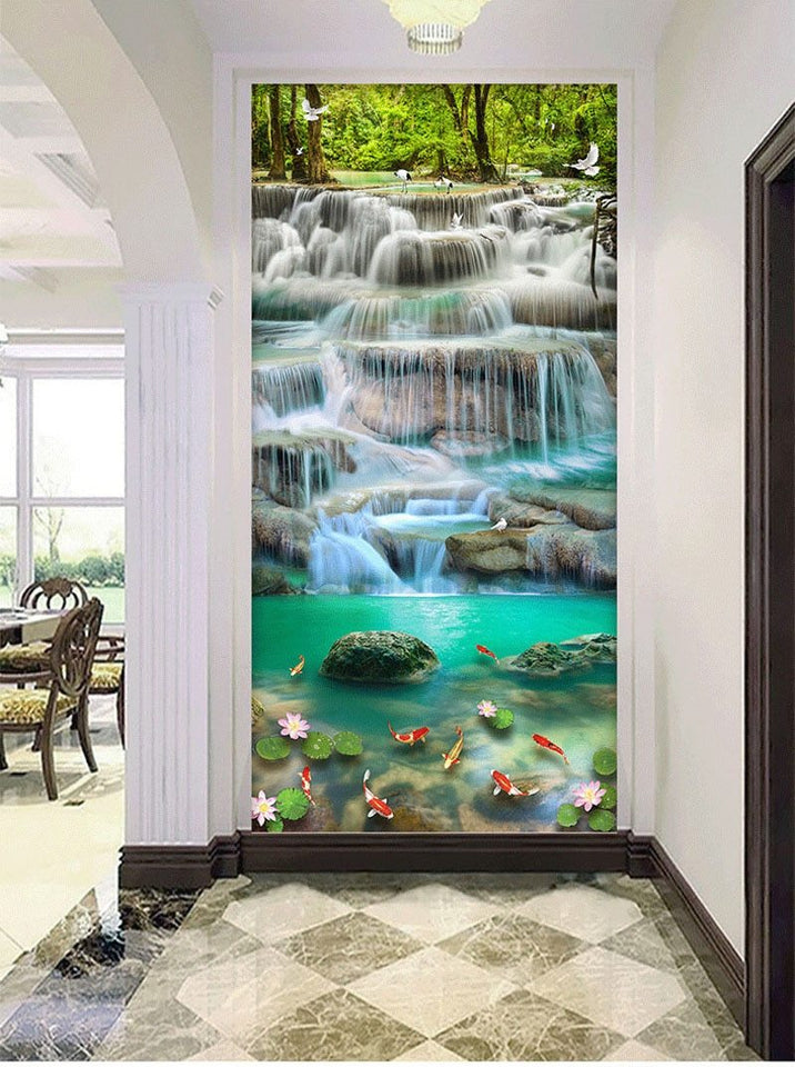 Waterval - Koi Karper XL | Diamond Painting