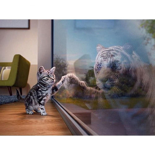 Kitten - Witte Tijger | Diamond Painting