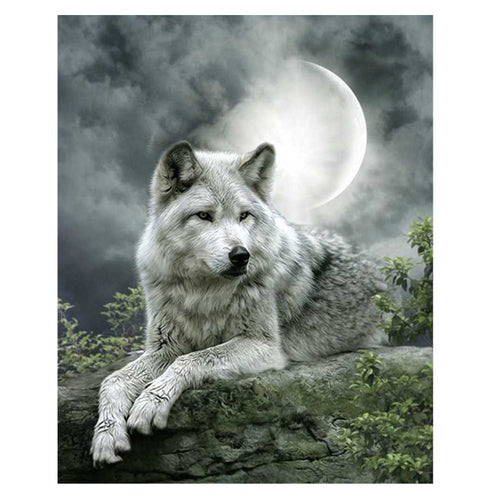 Wolf - Maan | Diamond Painting - Myth Of Asia