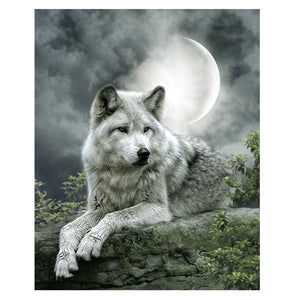 Wolf - Maan | Diamond Painting