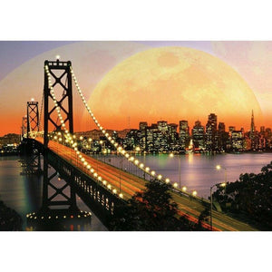 Zonsondergang - Brug | Diamond Painting - Myth Of Asia