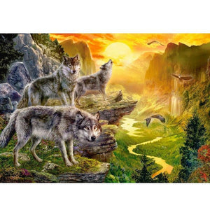 Wolf - Natuur | Diamond Painting - Myth Of Asia