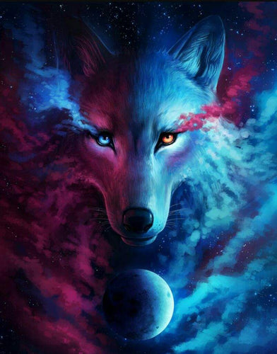 Universum Wolf | Diamond Painting - Myth Of Asia