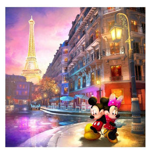 Mickey Mouse - Eiffeltoren | Diamond Painting