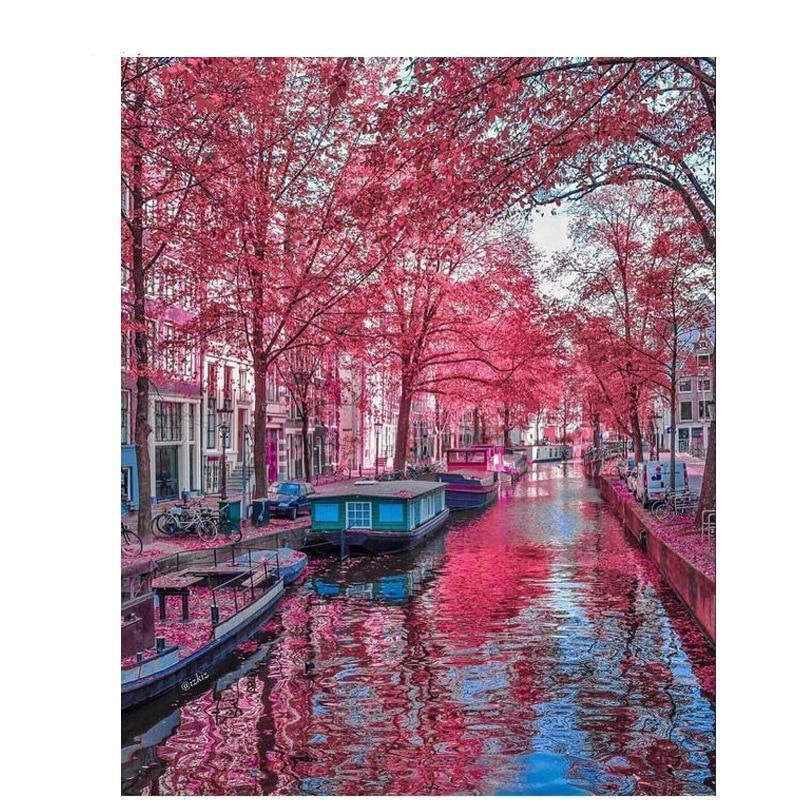 Amsterdamse Gracht | Diamond Painting - Myth Of Asia