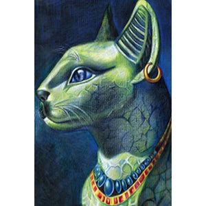 Egyptische Kat | Diamond Painting - Myth Of Asia