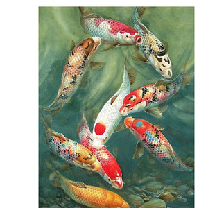 Koi Karpers | Diamond Painting - Myth Of Asia