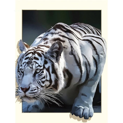 Witte Tijger 3D | Diamond Painting - Myth Of Asia