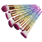 Rainbow Unicorn Brush   - 10 pieces