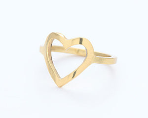 CUT OUT HEART - GOLD