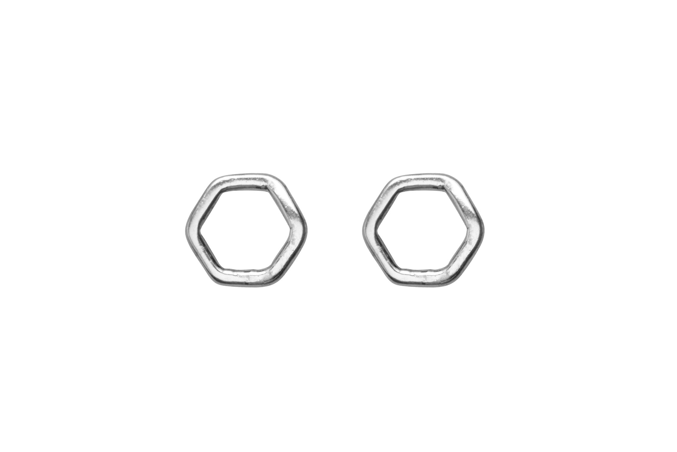 Geo Hexagon Stud