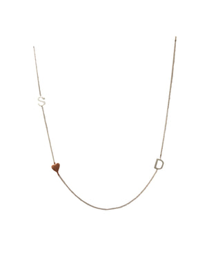 "16"" Sterling silver and rose gold plated necklace"