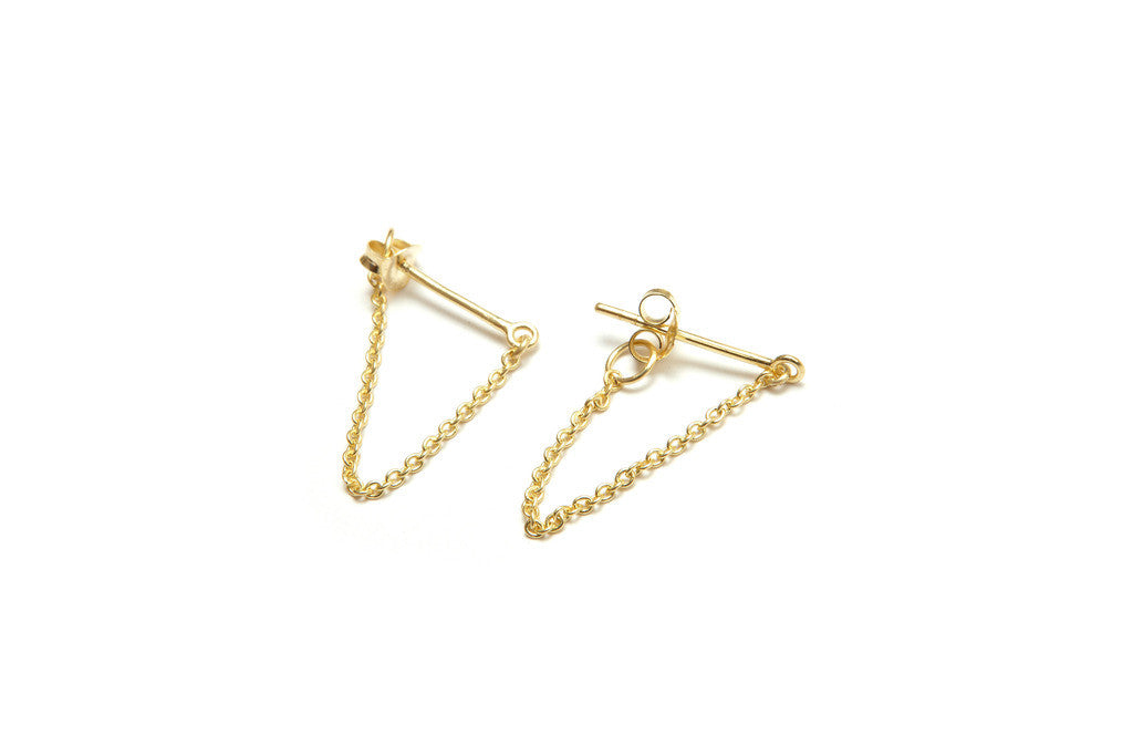 LINKED EARRING - GOLD