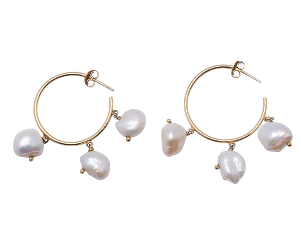 PASSION EARRINGS 3 PEARLS
