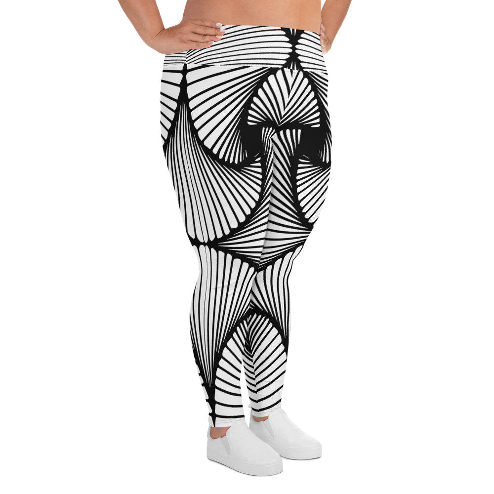 Deco Geometric Plus Size Leggings