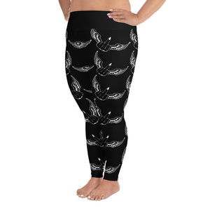 Flying F*cks Leggings (black, plus sizes)