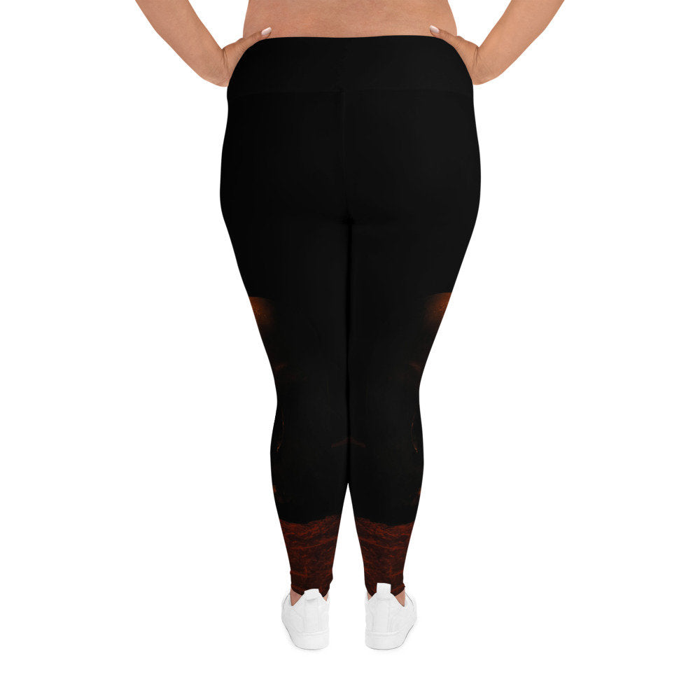 The Lady is a Skull Plus Size Leggings