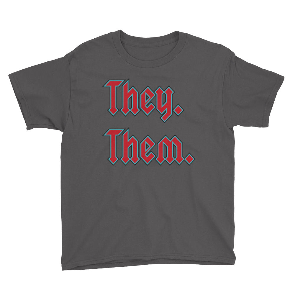 They. Them. Youth Short Sleeve T-Shirt