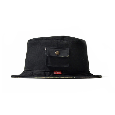 Lafayette x Deadline Chalk Line Bucket Hat (Black)