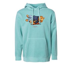 Shaded Bear Pigment Hoodie (Mint)