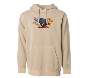 Shaded Bear Pigment Hoodie (Sand Stone)