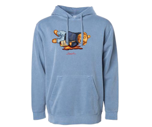 Shaded Bear Pigment Dyed Hoodie (Slate Blue)