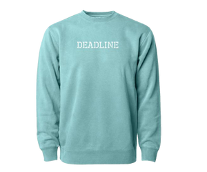 Military Logo Pigment Dyed Crewneck (Mint)