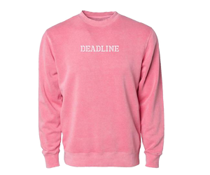 Military Logo Pigment Dyed Crewneck (Pink)