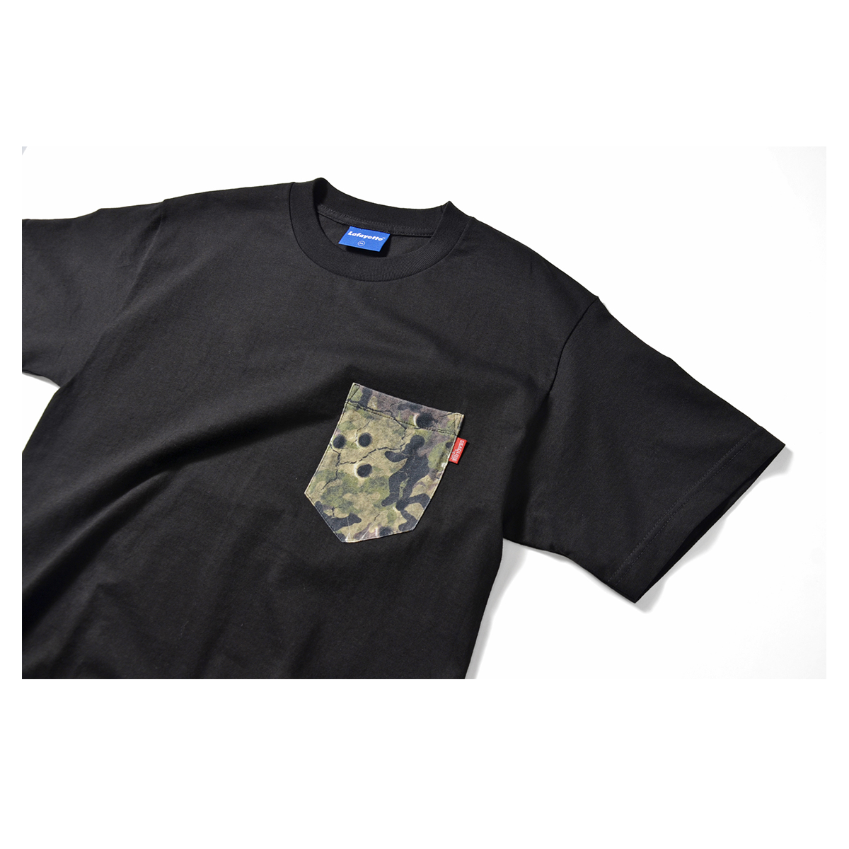 Lafayette x Deadline Chalk Line Camo Pocket Tee (Black)