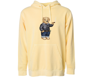 Blunt Bear Yellow Pigment Dyed Hoodie