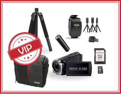 VIP - Pixio Pack ready to film SONY HDR CX450 Kamera + Roboter + Stativ + Pixio Transporttasche + 3 Powerbanks + 32GB Micro SD-Karte