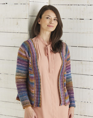 10026  Jewelspun Top Down Cardigan