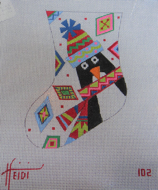 102 - Geometric Penguin Stocking
