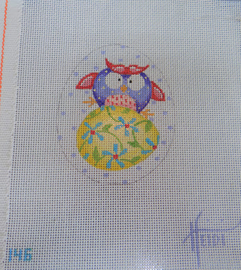 146 - Owl on Egg