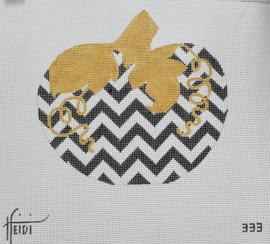 333 - Chevron Pumpkin