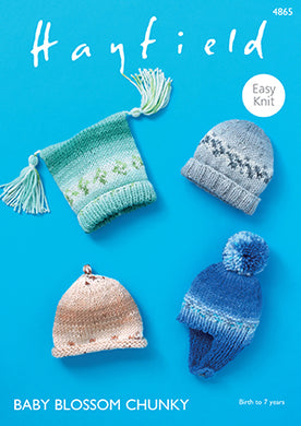 4865 Hayfield Baby Blossom Chunky Hats