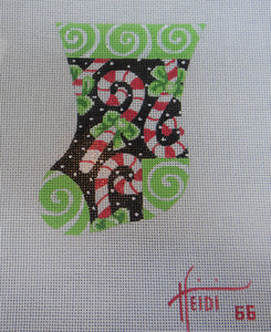 66 - Candy Cane Stocking