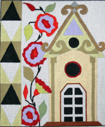 Melissa Prince Designs  - A127 - Birdhouse 2 + Stitch Guide