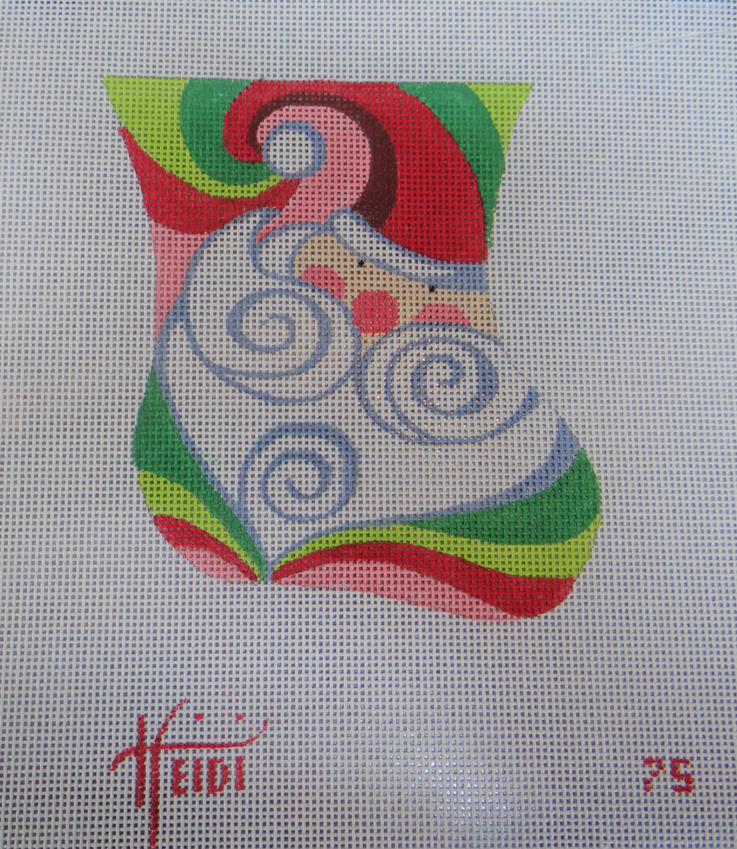 75 - Santa Swirl Stocking