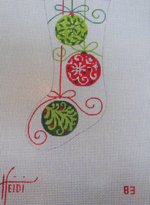 83 - Three Ornament Stocking