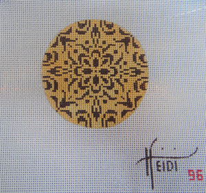 96 - Gold and Brown Dolly Round