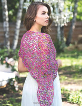 Delicious Crochet Shawl Series:  Berry Lime Pie Shawl