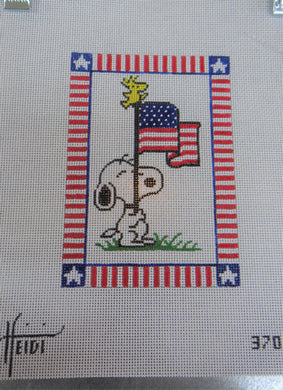 370 - Snoopy with Flag