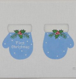 MT02 1st Christmas Mittens Blue