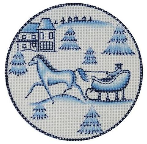 EV-X5B - Toile Horse and Sled Blue