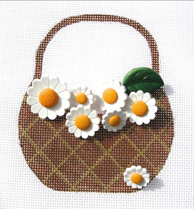HB271 Daisies Basket w/Stitch Guide
